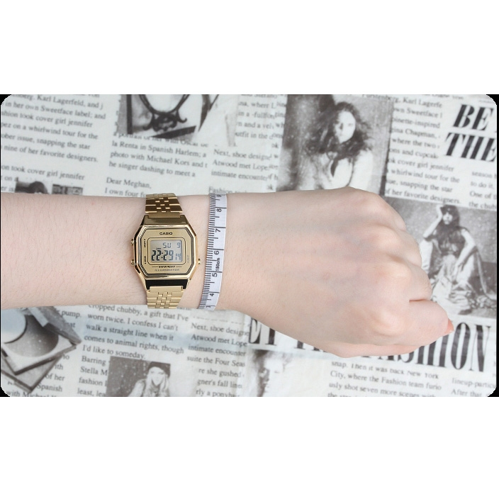 Đồng hồ Casio vàng LA680WGA-9D